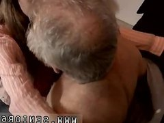 Old lady gives blowjob and british old men