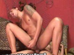 Big Dick Tranny Hardcore Bareback Sex with her Boyfriend