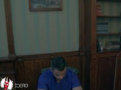 Sweet solo gay doctor porn on the table