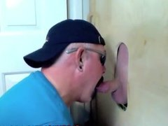 Gloryhole guy granting a wish from a fan
