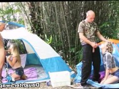 Teen Daughter Swapping Camping Trip