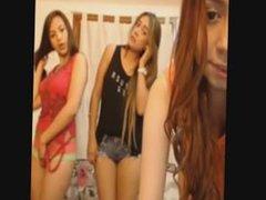 three teen not sisters being naughty on webcam