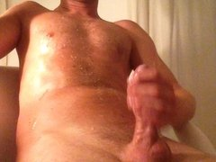 Edging and massive Cumshot with 9 spurts