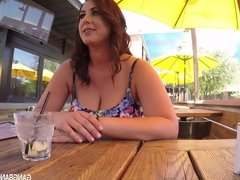 Drinks with Haily before her first Gangbang Creampie Video