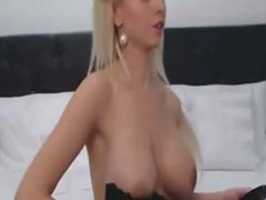 Amateur Blonde Teen Plays Solo with Toy