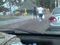 Boquete amador no carro