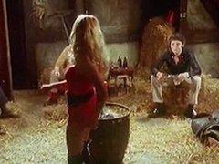 SUSIE Q - vintage blonde stripteases in barn 70s seventies