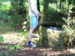 pissing in a public water tank