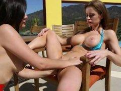 Emily Addison And Sophia Jade Play