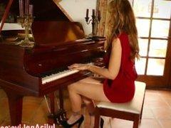 Busty Milf Julia Ann Cums on Piano!