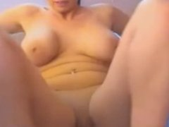Brunette with Big Boobs Masturbates on Live Cam