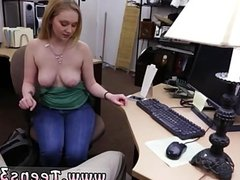 Handjob with strap on in his ass first time