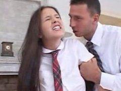 school girl yvette