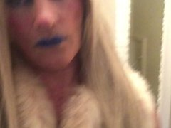 Being me blonde and in my fur coat