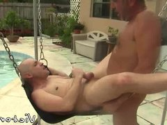 Outdoor sex action with horny daddies