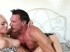 Kate England loves a big cock in her mouth and her shaved pussy