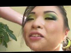 Sloppy Deepthroat with Asian Babe