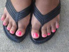 Tiffany Pink Toenails