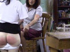 Teacher Spanks Student