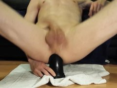 cum with dildo in my ass