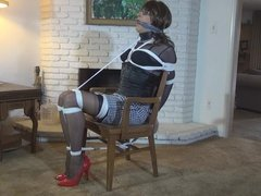 Sandra chairtied by delilah