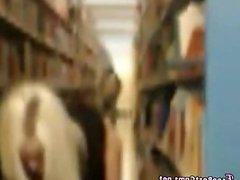 Nerdy Teen Masturbates In Public Library
