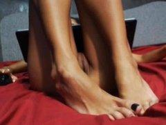 Up Close Laptop Feet