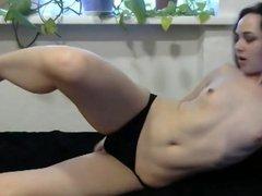 Very athletic girl!