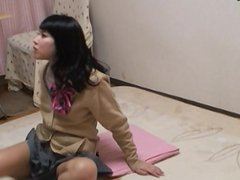 Japanese teens room to peep for 24h. Her uniform and upskirt.