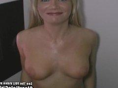 Blonde MILF Euro Tits Sucking Cocks In Glory Hole