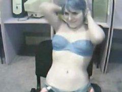 Blue haired webcam hotness 720camscom