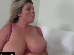 Bigtitted euro toying her pussy 1fuckdatecom