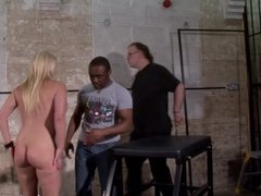 Interracial needle bdsm of busty German slave Melanie Moon