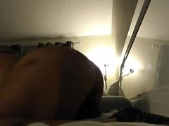 SEXY BLACK CHICK TAKES A HARD DICK ON A WEB CAM