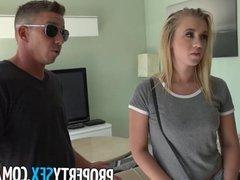PropertySex - Blonde cheats on her boyfriend with real estate agent