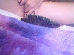 Hair brush masturbate