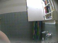 Russian girlfriend in hidden cam in shower 6
