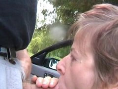 Swedish woman sucking cock outdoors in Hedemora