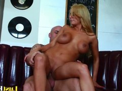 Busty blonde Mariah Madysinn takes a big one