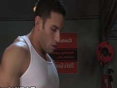 RagingStallion Mechanic Caught Wanking On The Job