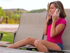 Kimmy Granger facialed by Step-Brother
