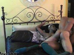 Ebony couple banging hard!