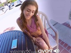 POVD - Small breasted brunette Rebel Lynn fucked POV style