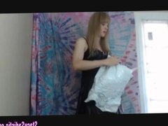 Panty Sale! Transsexual Goddess Tries on 15 Pairs of Panties
