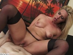 Horny MILF Boss Just Can't Get Enough!