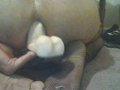 sitting on dildo showing soles