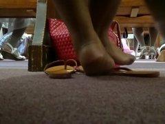 My Friend's Candid Beautiful Ebony Feet at Church 4
