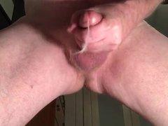 Stroking with cum shot