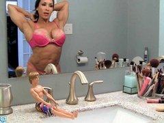 Denise Masino - Used again! Denise the 50 Foot woman - Female Bodybuilder