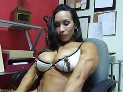 Denise Masino - Huge Nipples and Clit - Female Bodybuilder
